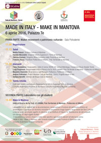 Locandina Made in Italy Make in Mantova